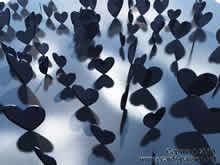 lots of grey and black hearts