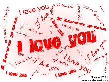 I love you written with many fonts