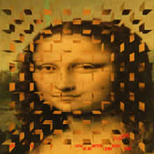 cubist version of Vinci's Mona Lisa