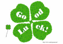 'Good luck' clover
