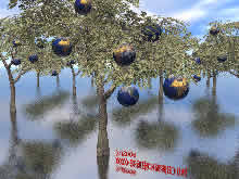 earth planets growing like fruits on a tree