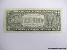 zero dollar bill indicating inflation