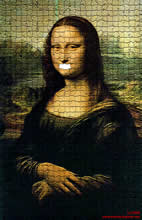 da Vinci and Mona Lisa without her smile