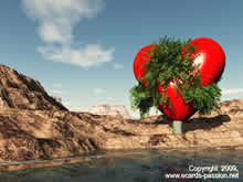 tree with a big heart