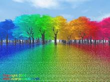 rainbow forest with ideal trees