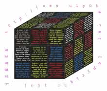 rubik's cube with excerpt from Le Cid by Corneille