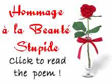 poem in French: homage to stupid beauty