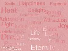 positive words: heat, delight, dream and eternity