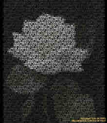 white rose in ASCII art