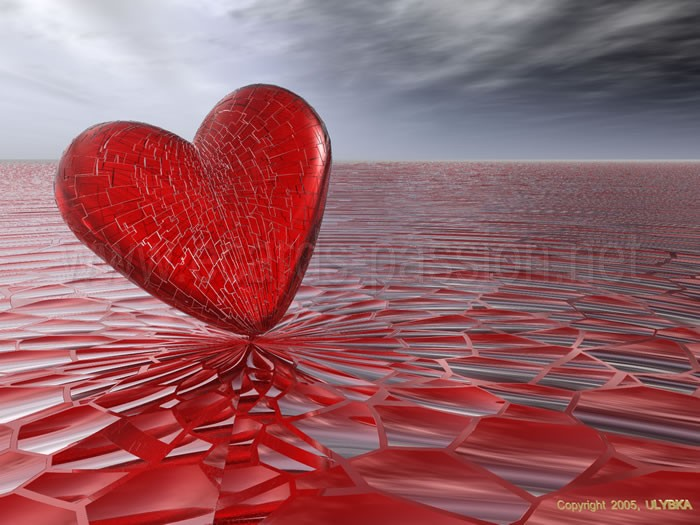 you broke my heart; bleeding broken heart; blood sea; glass pieces; sad love; sadness feeling