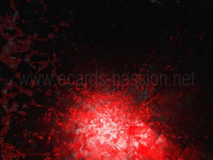 bloody crystal; danger; darkness; glass explosion; red tunnel