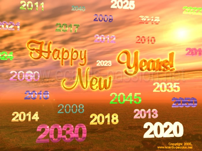 wishing happiness and health; New Year wishes; time goes by