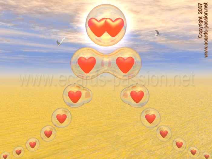 deepening love; hearts converging to one another; love fusion; we are like one