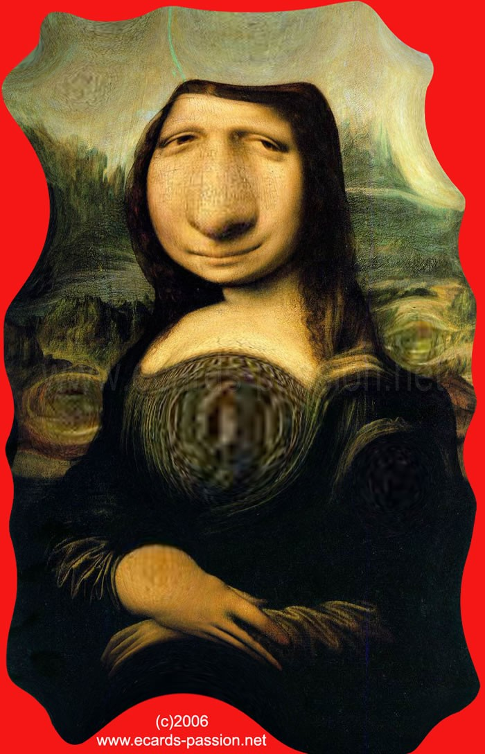 distortion; la Joconde (painting by Leonardo da Vinci); Mona Lisa; round face